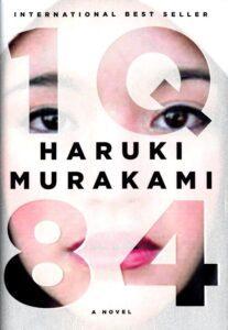 "Alternative history book cover on the example of Haruki Murakami's ""1q84"""