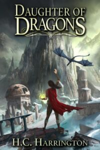 """Fantasy book cover design on the example of H.C. Harrington's """"Daugther of Dragons"""""""