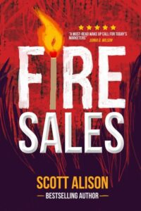 "Nonficiton book cover design on the example of Scott Alison's ""Fire Sales"""