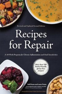 "Bordered design for cookbook covers on the example of Gail and Raul Piazza's ""Recipes for Repair"""