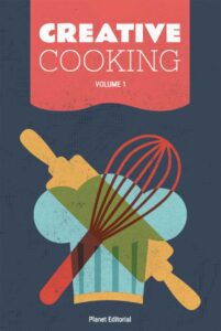 "Conceptualcookbook cover design on the example of ""Creative Cooking"""