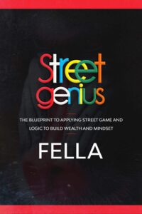 "Clever typography in nonficiton book covers on the example of  Fella's ""Street Genius"""