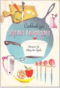 "Conceptualcookbook cover design on the example of Mary Lee Taylor's ""Cookbook for Young Moderns"""