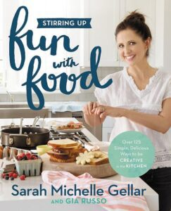 "Celebrity on a cookbook covers on the example of Sarah Michelle Gellar's ""Fun with Food"""