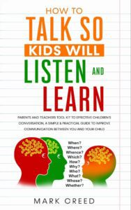 "The advantage of adding text in nonficiton book covers on the example of Mark Creed's ""How to Talk so Kids Will Listen"""""