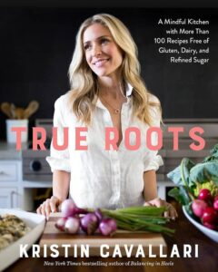 "Celebrity on a cookbook covers on the example of Kristin Caballari ""True Roots"""