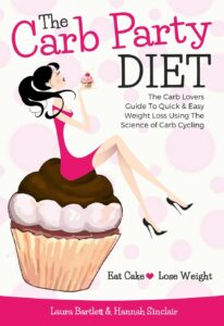 "Conceptualcookbook cover design on the example of Laura Barlett and Hannah Sinclair's""The Carb Party Diet"""