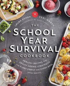 "Photo-based design for cookbook covers on the example of ""The School Year Survival Cookbook"""