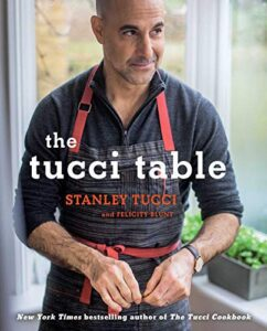 "Celebrity on a cookbook covers on the example of Stanley Tucci's ""The Tucci Table"""