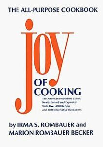 "Text-oriented cookbook cover design on the example of Irma and Marion Rombauers'""Joy of Cooking"""
