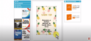 Screenshot of Adazing one of the best DIY book cover makers
