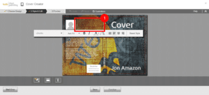 Screenshot of KDP cover creator one of the best DIY book cover makers